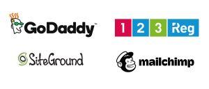 GoDaddy vs SiteGround vs 123reg vs Elite price comparison
